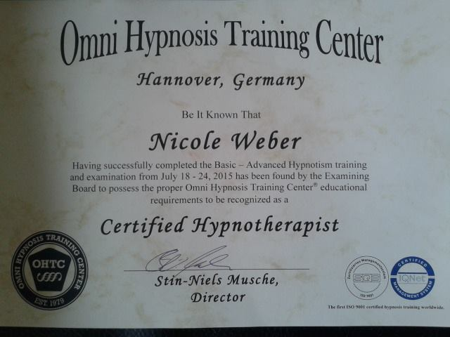 Hypnose Hannover OMNI Certified Hypnotherapist Nicole Weber