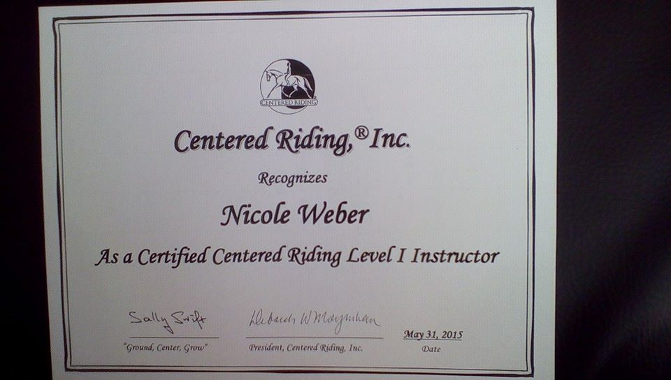 Centered Riding Hypnose Nicole Weber Hannover
